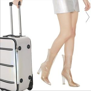 Dollskill Clear heeled boots new w defect